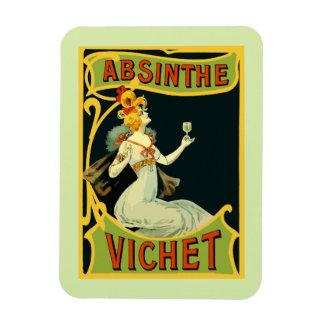 Absinthe Vichet, modern art nouveau Rectangular Photo Magnet