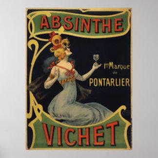 Absinthe Vichet Poster