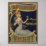 """Absinthe Vichet Poster<br><div class=""""desc"""">Vintage french art nouveau</div>"""