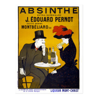 Absinthe Vintage Poster Restored Postcard