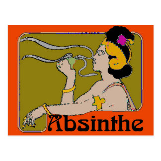 Absinthe Woman Postcard