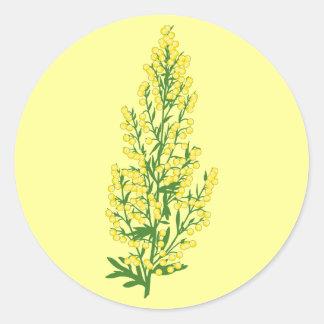 Absinthium Flowers Classic Round Sticker