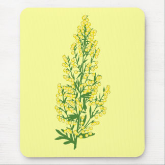 Absinthium Flowers Mouse Pad
