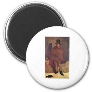 Absinthtrinker Manet, Edouard 2 Inch Round Magnet