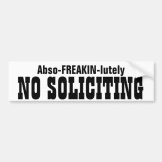 Abso FREAKIN Lutely ninguna solicitación Etiqueta De Parachoque