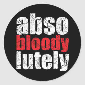 Absobloodylutely Retro U.K. Slang Stickers