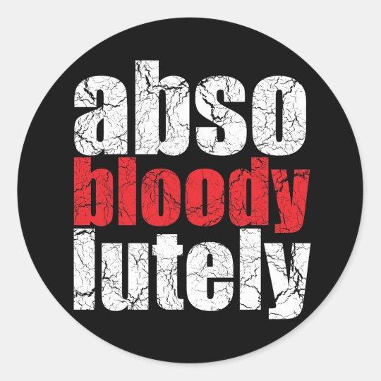 Absobloodylutely Retro U.K. Slang Stickers