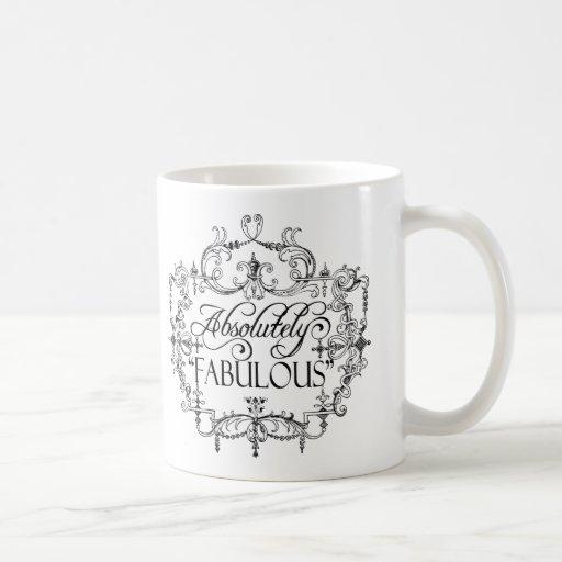 Absolutamente fabuloso taza básica blanca