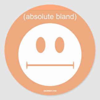 (Absolute Bland) Classic Round Sticker