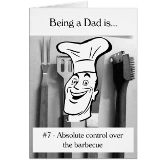 Absolute Control Over the Barbecue Greeting Card