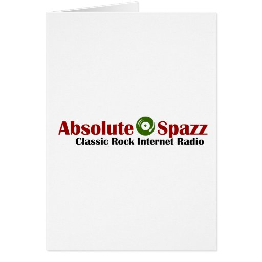 Absolute Spazz Merchandise Greeting Cards