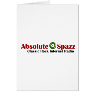 Absolute Spazz Merchandise Greeting Card