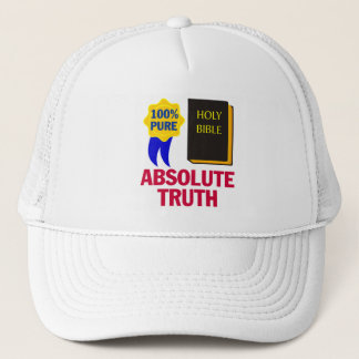 Absolute Truth Christian bible gift design Trucker Hat