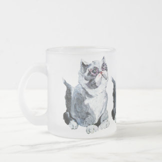 Absolutely Adorable Collection Frosted Glass Coffee Mug
