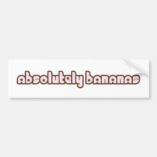 """Absolutely Bananas"" bumper sticker"