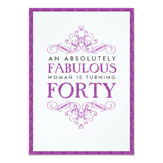 Absolutely Fabulous 40th Birthday Party Invitation