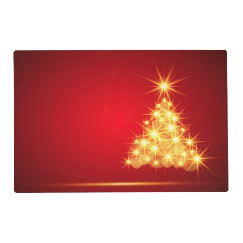 Absolutely Gorgeous Illuminating Christmas Tree Placemat