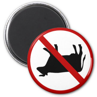 Absolutely NO Cow Tipping Permitted! Funny Magnet