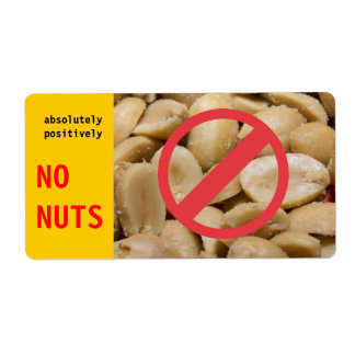 Absolutely Positively No Nuts label