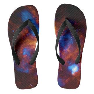 ABSOLUTELY STELLAR  (outer space) ~.jpg Flip Flops