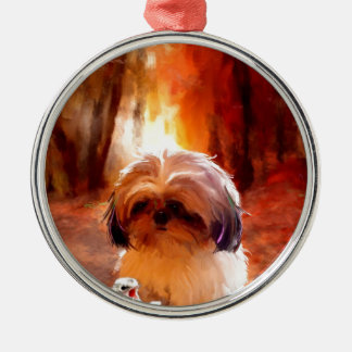 absolutely terrified_Painting.jpg Metal Ornament