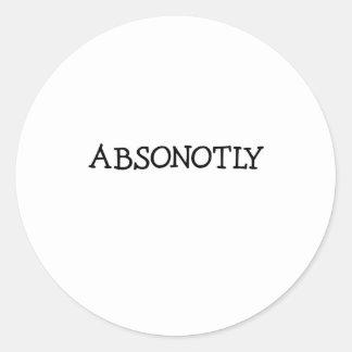 ABSONOTLY (simplemente negro) Pegatina Redonda