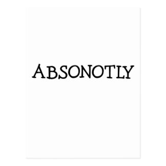 ABSONOTLY (simplemente negro) Tarjeta Postal