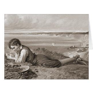 Absorbido 1871 tarjeta de felicitación grande
