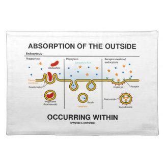 Absorción del exterior que ocurre dentro manteles individuales