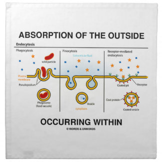 Absorción del exterior que ocurre dentro servilleta de papel