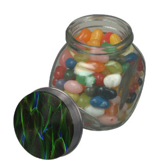 Absract Alien Plant green Jelly Belly Candy Jars