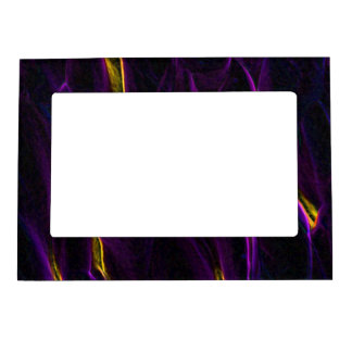 Absract Alien Plant purple Magnetic Picture Frame