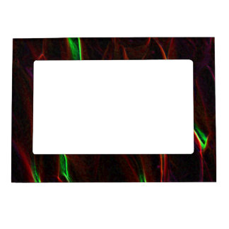 Absract Alien Plant red Magnetic Photo Frame