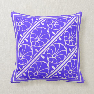 Absract Leaf Pattern Blue and White American MoJo  Pillows