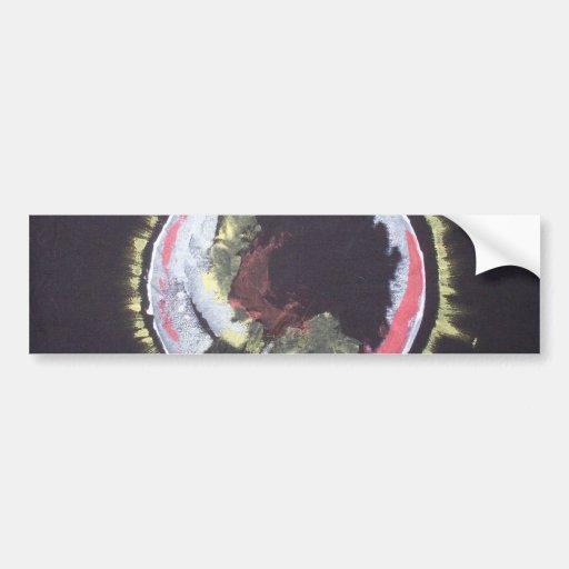 absract star design bumper sticker