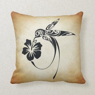 Absrtact Humingbird Throw Pillow