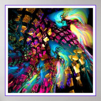 Abstact art digital print: Pieces Of A Dream Poster
