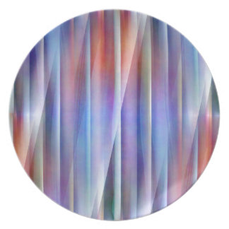 Abstact blue by Christine Bässler Melamine Plate