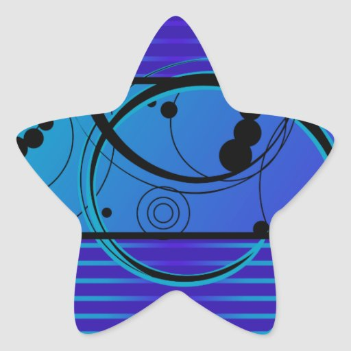 Abstact Blue Eclipse Star Stickers
