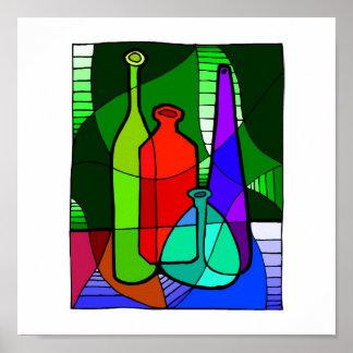 Abstact Bottle Kitchen Poster 15x15