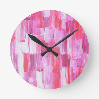 Abstact Design from Original Painting Round Clock