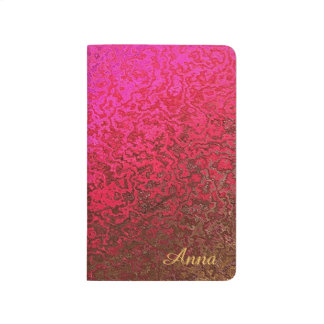 Abstact Gold, Pink and Red Design Pocket Journal
