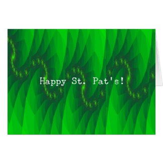 Abstact Green St. Pat's card