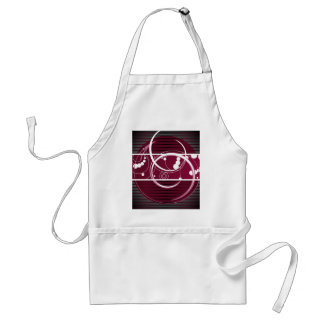 Abstact Red Eclipse Adult Apron