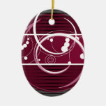 Abstact Red Eclipse Christmas Ornament