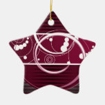 Abstact Red Eclipse Christmas Tree Ornaments