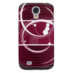 Abstact Red Eclipse Galaxy S4 Cases
