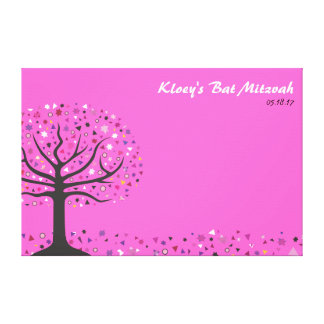 Abstact Tree of Life Bat Mitzvah Sign In Board