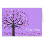Abstact Tree of Life Bat Mitzvah Thank You Card