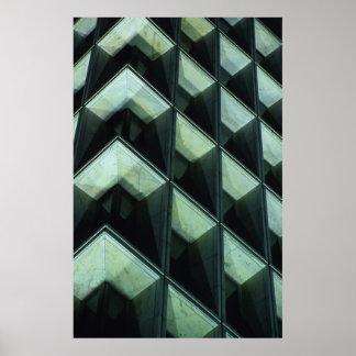 Abstact Windows at Dusk Poster